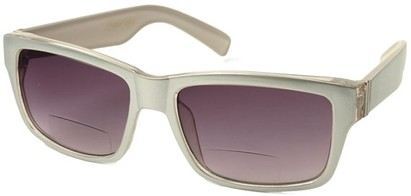 Angle of Orbison in Silver, Women's and Men's Retro Square Reading Sunglasses