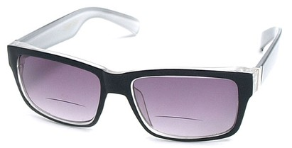 Angle of Orbison in Black and Grey, Women's and Men's Retro Square Reading Sunglasses