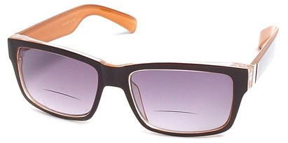 Angle of Orbison in Brown and Orange, Women's and Men's Retro Square Reading Sunglasses