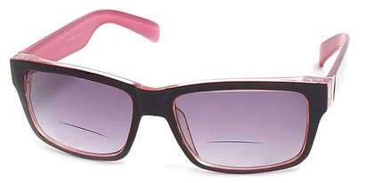 Angle of Orbison in Red and Pink, Women's and Men's Retro Square Reading Sunglasses