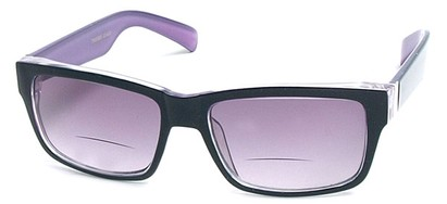 Angle of Orbison in Black and Purple, Women's and Men's Retro Square Reading Sunglasses