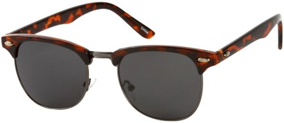 Angle of Whistler #324 in Brown Tortoise/Grey Frame with Grey Lenses, Women's and Men's Browline Sunglasses