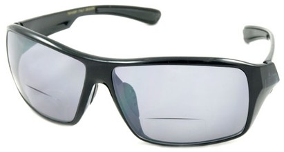 Angle of Hammond #7974 in Black, Women's and Men's Square Reading Sunglasses