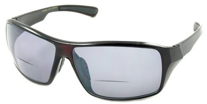 Angle of Hammond #7974 in Red, Women's and Men's Square Reading Sunglasses