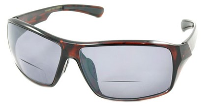 Angle of Hammond #7974 in Tortoise, Women's and Men's Square Reading Sunglasses