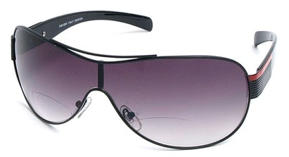 Angle of SW Bi-Focal Shield Style #7981 in Black, Women's and Men's