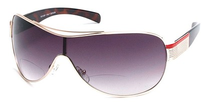 Angle of SW Bi-Focal Shield Style #7981 in Gold, Women's and Men's