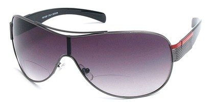 Angle of SW Bi-Focal Shield Style #7981 in Grey, Women's and Men's