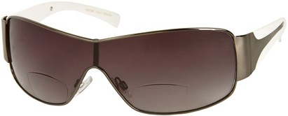 Angle of SW Shield Bifocal Style #7982 in Grey and White, Women's and Men's