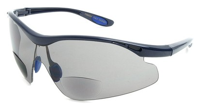 Angle of Explorer #7989 in Blue, Women's and Men's Sport & Wrap-Around Reading Sunglasses