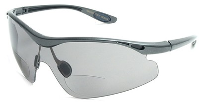 Angle of Explorer #7989 in Grey, Women's and Men's Sport & Wrap-Around Reading Sunglasses