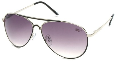 Angle of SW Neon Aviator Style #55700 in Black, Women's and Men's