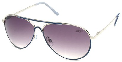 Angle of SW Neon Aviator Style #55700 in Blue, Women's and Men's