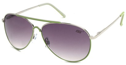 Angle of SW Neon Aviator Style #55700 in Green, Women's and Men's