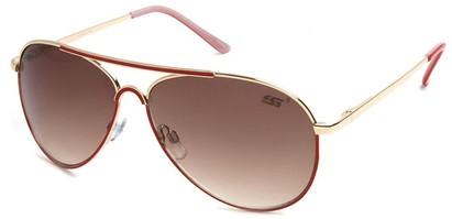 Angle of SW Neon Aviator Style #55700 in Red, Women's and Men's