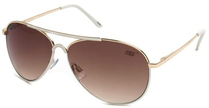Angle of SW Neon Aviator Style #55700 in White, Women's and Men's