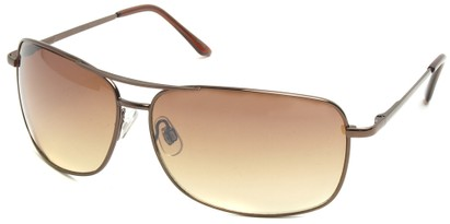 Angle of SW Square Aviator Style #808 in Bronze Frame, Women's and Men's