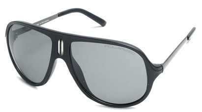 Angle of SW Polarized Aviator Style #8560 in Black Frame with Smoke Lenses, Women's and Men's