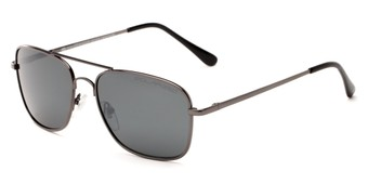 Angle of Cole #8300 in Grey Frame with Grey Lenses, Women's and Men's Aviator Sunglasses