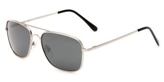Angle of Cole #8300 in Silver Frame with Grey Lenses, Women's and Men's Aviator Sunglasses