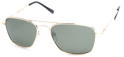 Angle of SW Polarized Aviator Style #753 in Gold Frame with Green Lenses, Women's and Men's