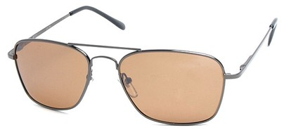 Angle of SW Polarized Aviator Style #753 in Grey Frame with Amber Lenses, Women's and Men's