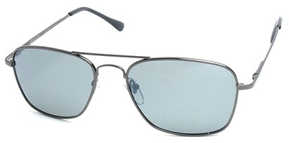 Angle of SW Polarized Aviator Style #753 in Grey Frame with Smoke Lenses, Women's and Men's