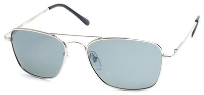 Angle of SW Polarized Aviator Style #753 in Silver Frame with Smoke Lenses, Women's and Men's