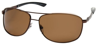Angle of Archer #8309 in Bronze Frame, Men's Aviator Sunglasses