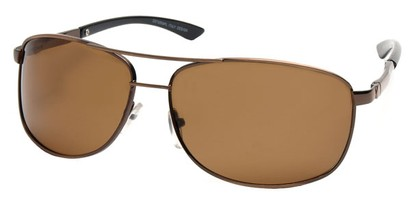 Angle of Archer #8309 in Copper Frame with Amber Lenses, Men's Aviator Sunglasses