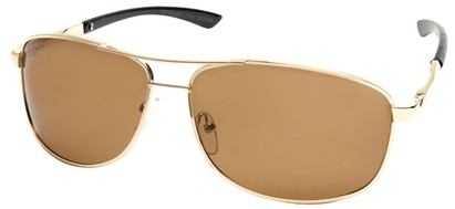 Angle of Archer #8309 in Gold Frame, Men's Aviator Sunglasses