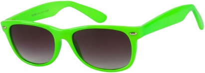 Angle of SW Neon Retro Style #1610 in Neon Green Frame, Women's and Men's