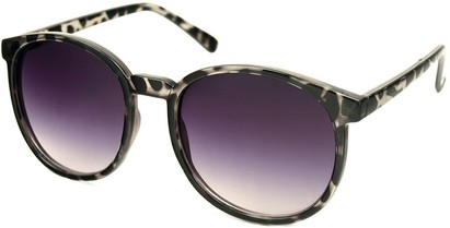Angle of Fauna #832 in Black Tortoise Frame, Women's and Men's Round Sunglasses
