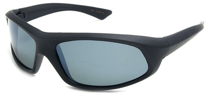 Angle of SW Polarized Style #1916 in Matte Black Frame with Smoke Lenses, Women's and Men's