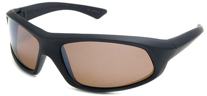 Angle of SW Polarized Style #1916 in Matte Black Frame with Amber Lenses, Women's and Men's