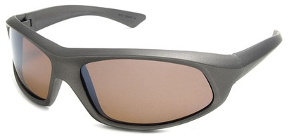 Angle of SW Polarized Style #1916 in Grey Frame with Amber Lenses, Women's and Men's