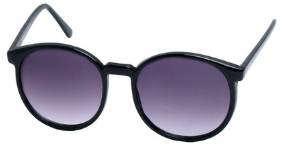 Angle of Fauna #832 in Black Frame, Women's and Men's Round Sunglasses