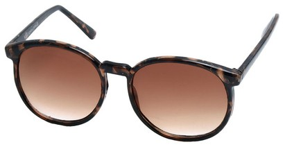 Angle of Fauna #832 in Tortoise Frame with Amber Lenses, Women's and Men's Round Sunglasses