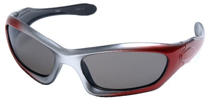 Angle of SW Kid's Style #2466 in Red and Silver Frame, Women's and Men's
