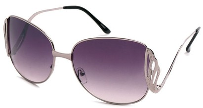 Angle of SW Fashion Style #1145 in Glossy Grey with Smoke Lenses, Women's and Men's