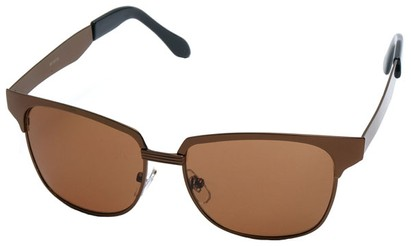 Angle of Flint #1352 in Bronze Frame, Women's and Men's Browline Sunglasses