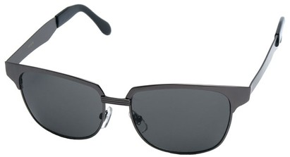 Angle of Flint #1352 in Grey Frame, Women's and Men's Browline Sunglasses