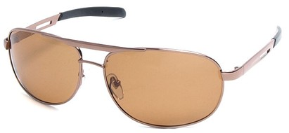 Angle of SW Polarized Aviator Style #2455 in Copper Frame with Amber Lenses, Women's and Men's