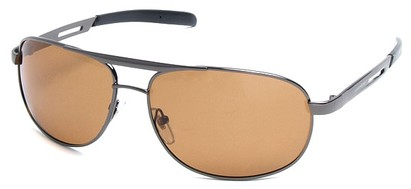 Angle of SW Polarized Aviator Style #2455 in Grey Frame with Amber Lenses, Women's and Men's