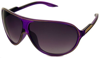 Angle of SW Kid's Celebrity Style #1353 in Purple and Gold Frame, Women's and Men's
