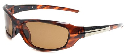 Angle of SW Polarized Style #1959 in Brown Tortoise Frame with Amber Lenses, Women's and Men's