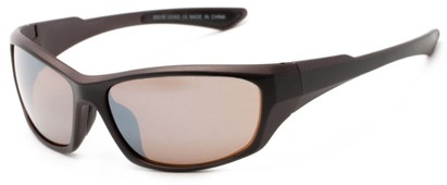 Angle of Champion #8591 in Black/Bronze Frame with Amber Lenses, Women's and Men's Sport & Wrap-Around Sunglasses