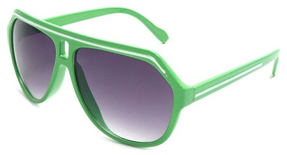 Angle of SW Aviator Style #1351 in Green with White, Women's and Men's