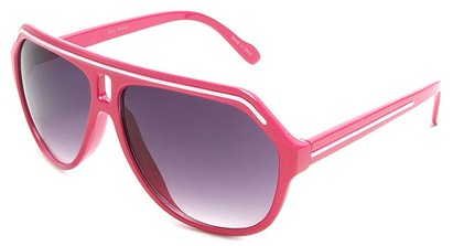 Angle of SW Aviator Style #1351 in Pink with White, Women's and Men's