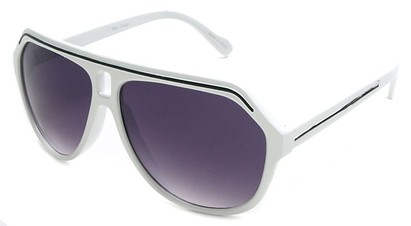 Angle of SW Aviator Style #1351 in White with Black, Women's and Men's